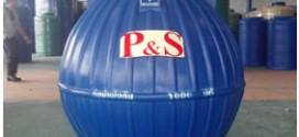 ถังเก็บน้ำ P&S สำหรับฝังใต้ดินทรงบอลลูน